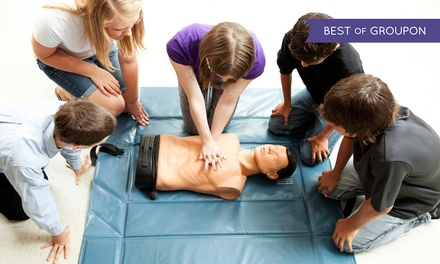 $72 for an American Heart Association First-Aid, CPR, and AED Class ($140 Value)