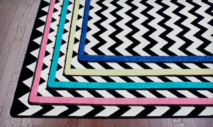 Vibe Techno Area Rug: $59 for a Black-and-White Vibe Techno Area Rug with Optional Border ($129 Value). Multiple Styles Available.