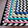54% Off Black-and-White Chevron Area Rug
