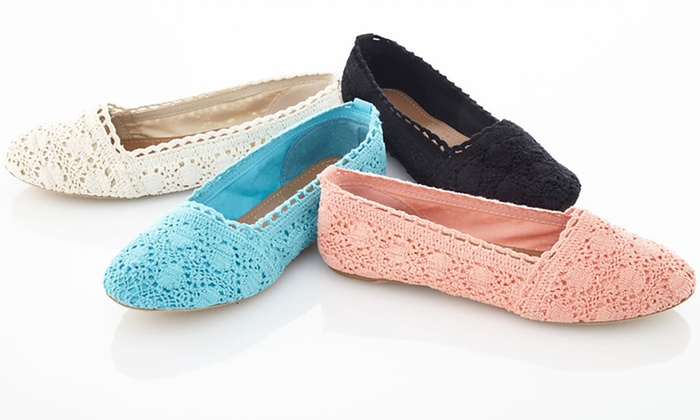 Bucco Macy Crochet Flats: $19.99 for Bucco Macy Crochet Flats ($44.95 List Price). Multiple Colors and Sizes Available. Free Shipping and Returns.