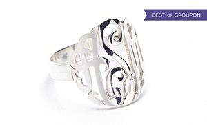 NameJewelrySpot.com: Sterling Silver Monogram Ring from Name Jewelry Spot
