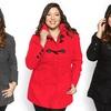 Women's Plus Size Stylish Toggle Hooded Coat