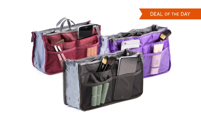 Cosmetic Bag Insert Organizer (2-Pack)