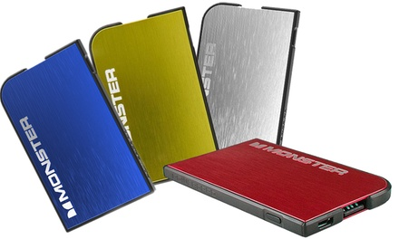 Monster PowerCard Portable Battery and High-Performance Micro USB Cable