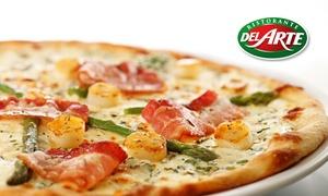 Del Arte Dole: Plat au choix entre pizza, pâtes et risottos et dessert pour 2 ou 4 personnes dès 19,90 € chez Del Arte Dole