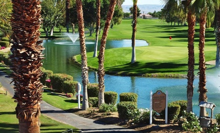 Stay with Optional Golf at Indian Palms Country Club and Resort in Indio, CA. Dates into October Available.