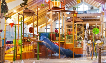 Stay with Daily Water Park Passes and Resort Credit at Great Wolf Lodge New England in Fitchburg, MA. Dates into July.
