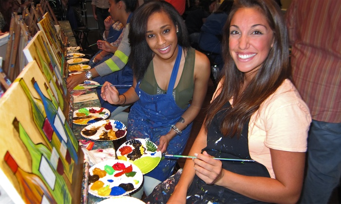 Pinot's Palette - West Highland: $23 for a Three-Hour Paint and Sip Art Party at Pinot's Palette ($45 Value)
