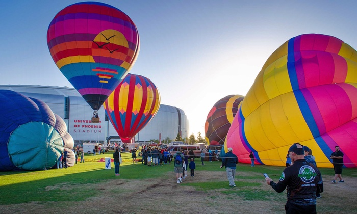 Out West Balloon Fest - Glendale: Admission to Hot-Air Balloon Events at Out West Balloon Fest (Up to 50% Off). Six Options Available.
