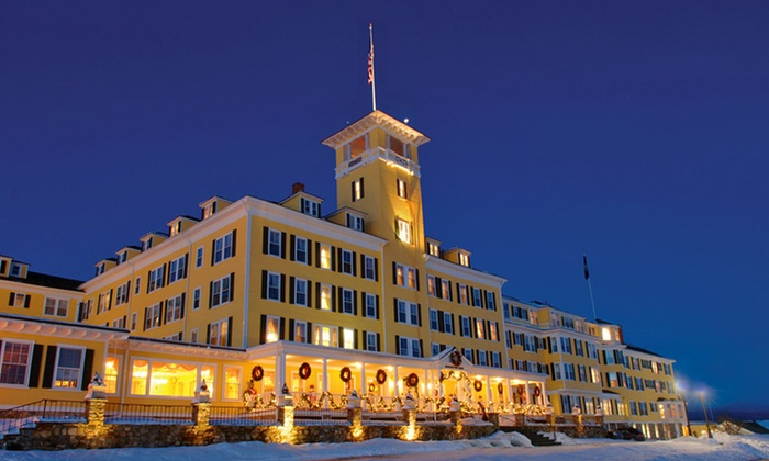 null - Boston: Stay with $30 Resort Credit at Mountain View Grand Resort & Spa in Whitefield, NH. Dates Available into April.