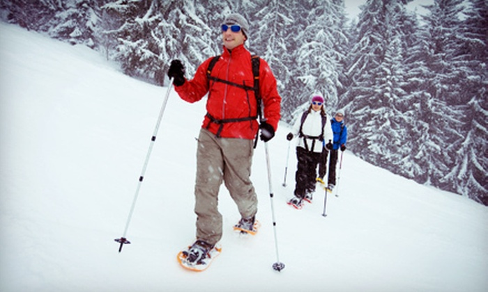 CamRock Cafe & Sport - Cambridge: Snowshoe or Cross-Country-Ski Rental for Two or Four with Hot Cocoa or Coffee from CamRock Cafe & Sport (Up to 54% Off)