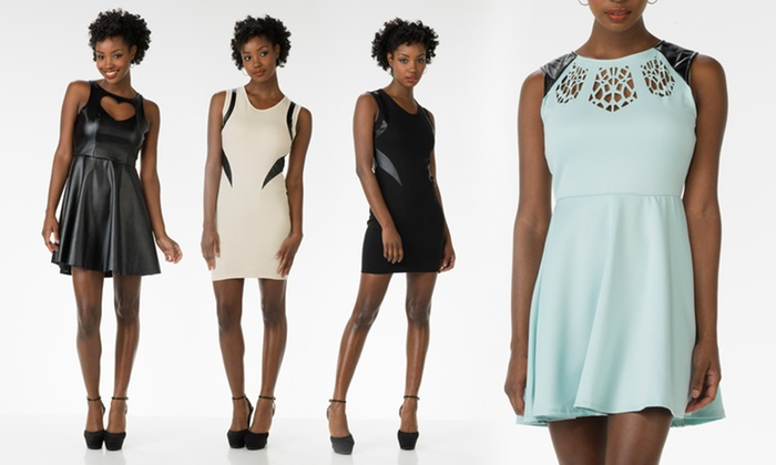 Poof Apparel Faux-Leather Dresses: Poof Apparel Faux-Leather Dresses. Multiple Styles from $12.99–$16.99. Free Returns.