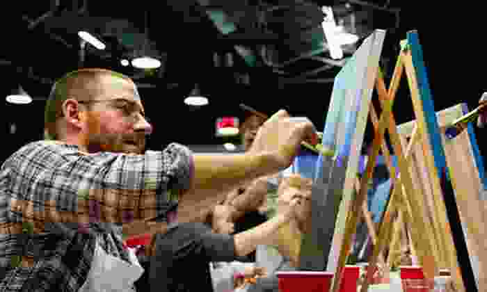 Texas U Can Paint - Southlake Plaza: Two- or Three-Hour Class for One Adult, or Two-Hour Class for a Child at Texas U Can Paint (Up to 51% Off)