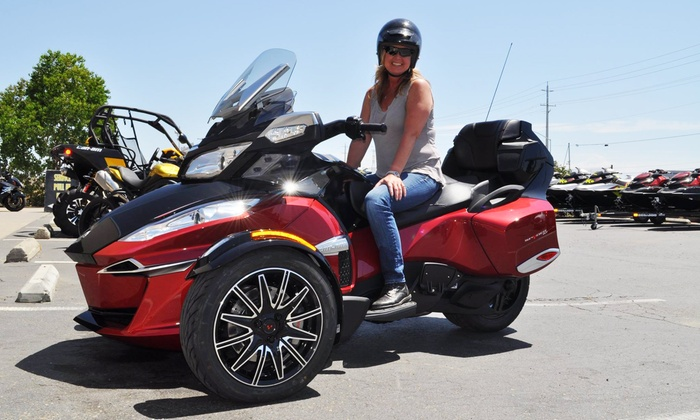 Elk Grove Power Sports  - Elk Grove: 1-Day, 2-Day, or 4-Hour Rental of a Spyder Three-Wheeled Motorcycle from Elk Grove Power Sports (Up to 31% Off)