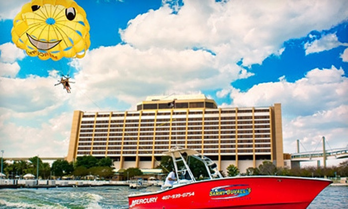 Sammy Duvall's Watersports Centre - Disney's Contemporary Resort Marina: Single-Person or Tandem Parasailing Flight at Sammy Duvall's Watersports Centre (40% Off)