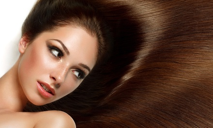 Haircut and Style with Optional Keratin Treatment at Your Salon (Up to 57% Off)