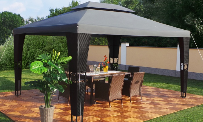 3m X 4m Rattan Gazebo Groupon Goods