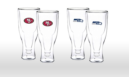 2-Pack of NFL Double-Walled Beer Tumblers