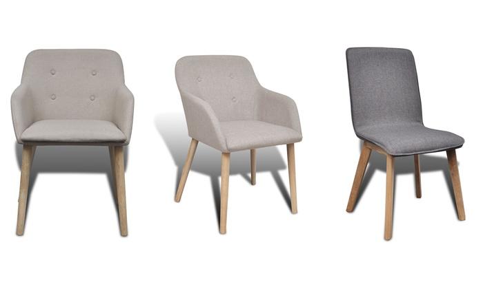 2, 4 ou 6 chaises de salle à manger, avec ou sans accoudoirs