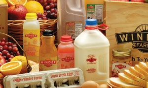Winder Farms: $14 for Two Deliveries of Groceries, Including Waived Delivery Fees, from Winder Farms ($66 Value)