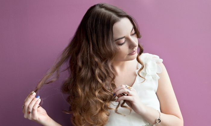 Excel Hair Salon - Multiple Locations: Haircut, Blow-Dry, and Style With Coloring Options at Excel Hair Salon (Up to 48% Off). Four Options Available.