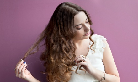 Haircut, Blow-Dry, and Style With Coloring Options at Excel Hair Salon (Up to 48% Off). Four Options Available.