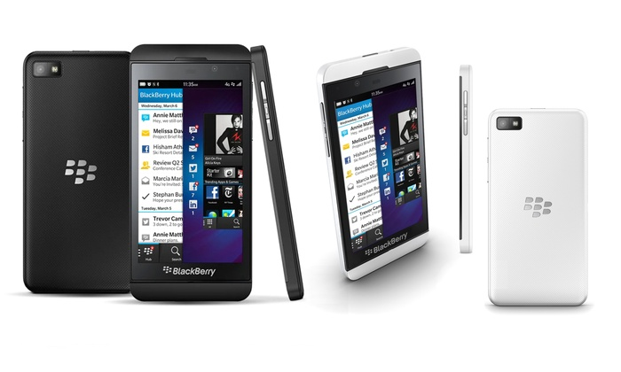 GSM-Unlocked BlackBerry Z10: GSM-Unlocked BlackBerry Z10 in Black or White. Free Returns.
