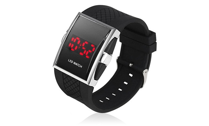 Men's LED Screen Silicone Wrist Watch for £6.98