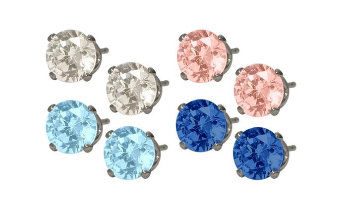 Elite Jewels - Elite Jewels: C$15 for a Pair of Swarovski Elements Crystal Stud Earrings (C$60 Value)