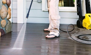 Groundworks Lawn Care Co.: Exterior Power Washing for a 2,500 or 3,500 Sq. Ft. House from Groundworks Lawn Care Co. (Up to 67% Off)