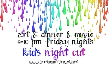 Up to 50% Off Kid's Night Out for One or Two  at Art n Soul