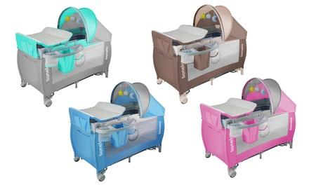 Cuna de viaje para bebés con mesa de cambio Lionelo