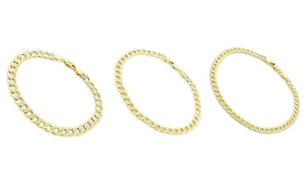 14K Solid Gold Two-Tone Cuban Link Bracelet from $109.99–$289.99