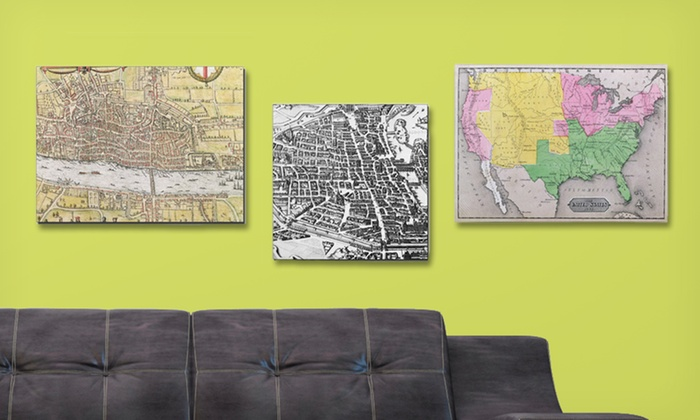 Framed Canvas Maps: $29.99 for a Framed Canvas Map ($69.99 List Price). Multiple Maps Available. Free Shipping and Returns.