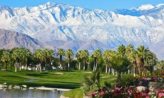 Desert Springs Golf Club - Palm Desert: Golf with Cart, GPS, & Range Balls at Desert Springs Golf Club at the JW Marriott Desert Springs (Up to 55% Off)