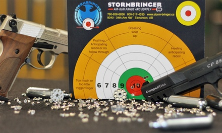 Air-Gun Shooting Outings at Stormbringer Air-Gun Range and Supply (Up to 57% Off). Three Options Available.