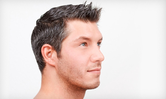 Glance Beautique - Kreative By Tina at The Style Lounge: One or Three Men's Haircut Packages with Complimentary Beer at Glance Beautique in Carlsbad (Up to 63% Off)