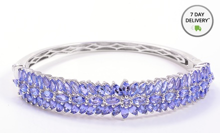 10.22-Carat Tanzanite Bangle Bracelet. Free Returns.