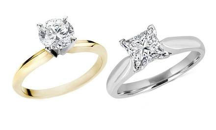 1.00 Carat Diamond Ring in 14K Gold