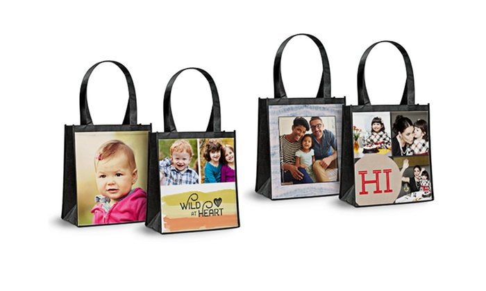 55% Off on Custom Reusable Shopping Bag | Groupon Goods