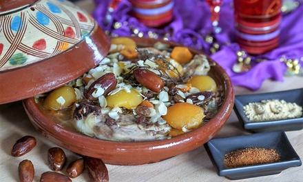 Tajine au choix ou couscous avec thé à la menthe pour 2 ou 4 personnes dès 26 € au restaurant Hammamet