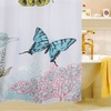 Lively Nature Print Fabric Shower Curtains