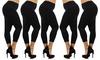 5-Pack of Women's Plus-Size Capri Leggings: 5-Pack of Women's Plus-Size Capri Leggings