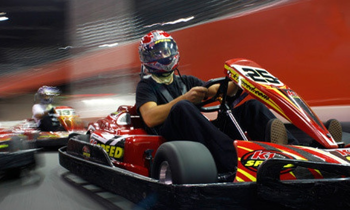 K1 Speed - Houston: $44 for a Go-Kart-Racing Package with Four Races and Two Annual Race Licenses at K1 Speed in Houston (Up to $92 Value)