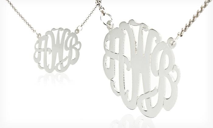 Custom Sterling Silver Handcut Monogram Necklace: $39.99 for a Handmade Custom Sterling Silver Monogram Pendant from MonogramOnline.com ($99 List Price). Free Shipping.