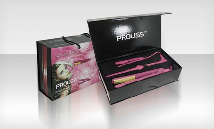 Proliss Set with Curling Wand, Straightener, and Flat Iron. Multiple Colors Available. Free Returns.