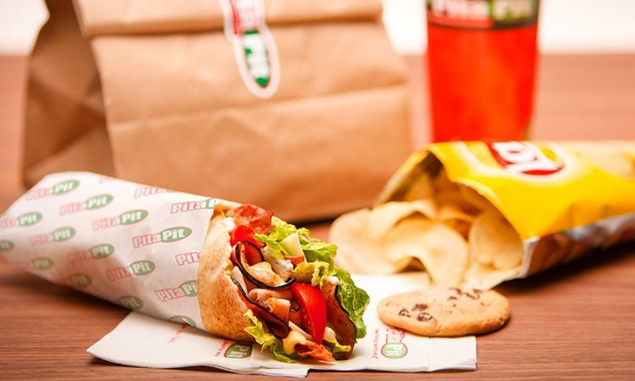 Pita Pit - Brookfield: Pitas and Drinks or Party Platter at Pita Pit (40% Off). Two Options Available.
