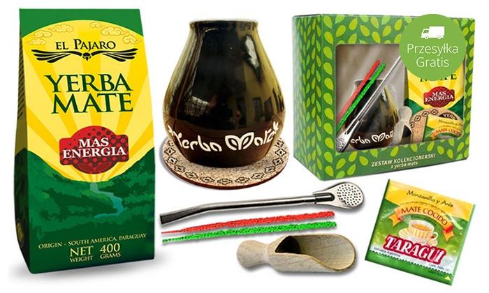 Groupon Goods Global GmbH: 54,99 zł: wybrana yerba mate w pudełku kolekcjonerskim z tykwą, bombillą i więcej – 4 zestawy do wyboru