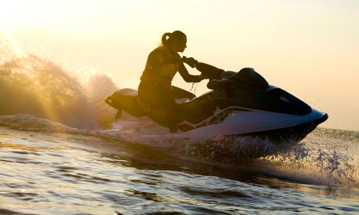 American Watersports - Pompano Beach: 30- or 60-Minute Jet-Ski Rental with Full-Day Beach Furniture Rental from American Watersports (Up to 51% Off)