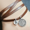 Personalized Charm Wrap Leather Bracelet (1- or 2-Pack)
